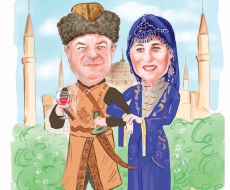 Caricatura cuplu – caricatura color, personalizata la cerere