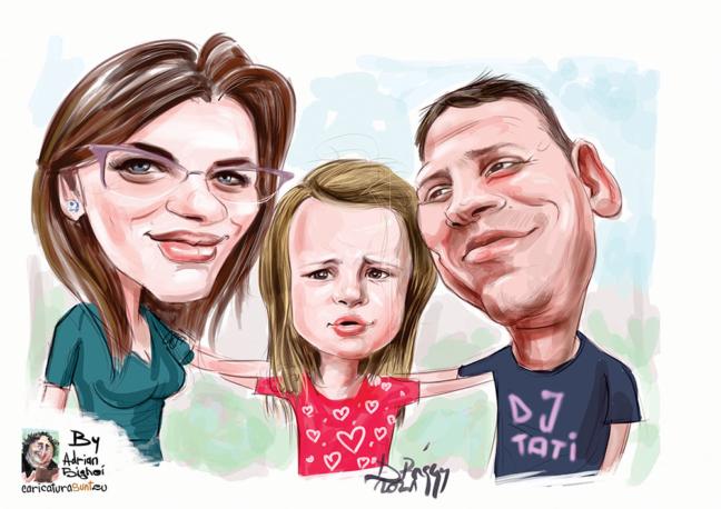 caricatura de familie