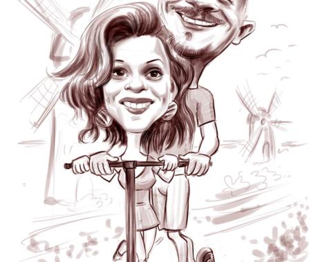 Caricatura cuplu