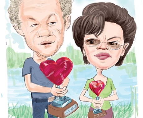 Caricatura personalizata pentru parinti sau socrii