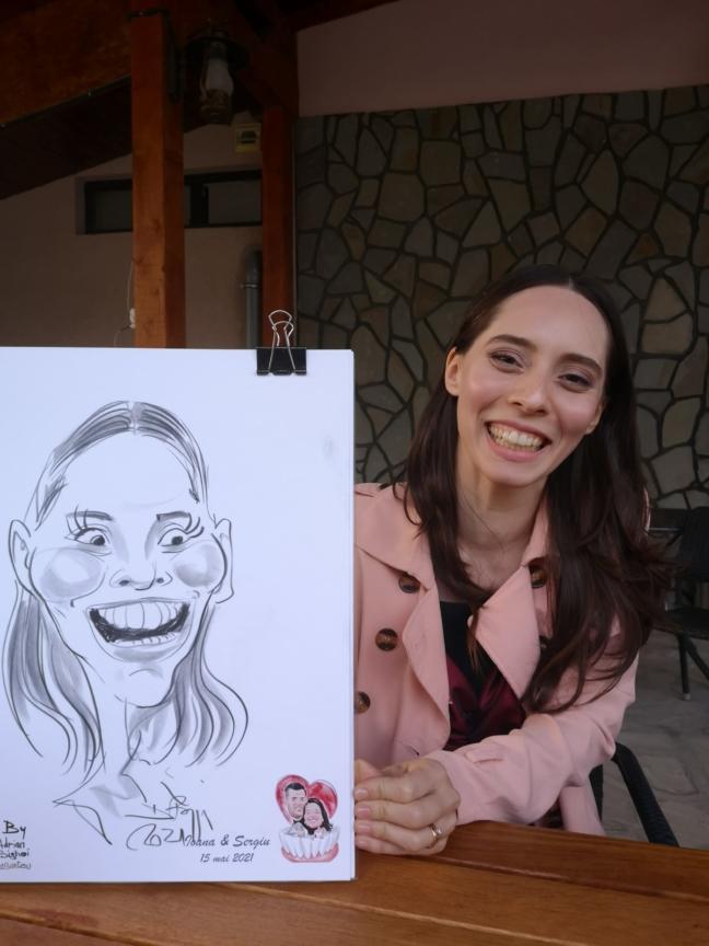 caricaturi in creion life