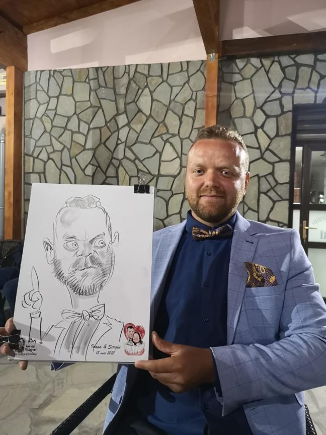 caricaturi nunti, botezuri si evenimente