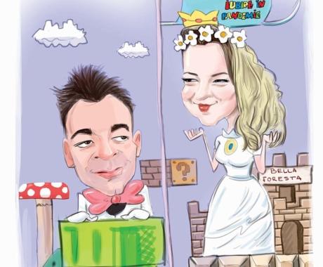 Caricatura cuplu – cadou de nunta