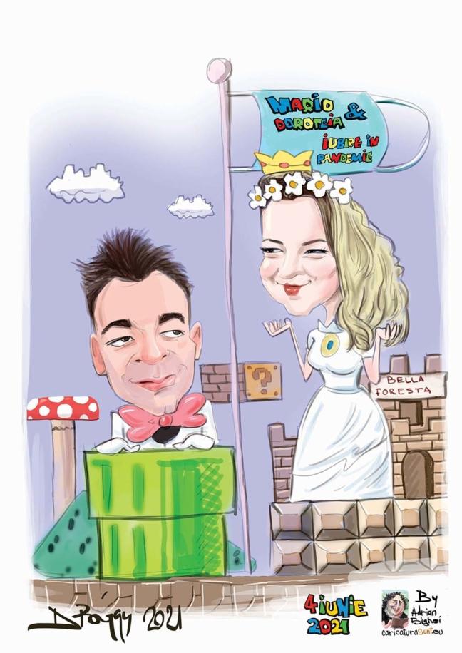 caricatura - cadou de nunta