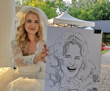 Caricaturi la nunti, Arad