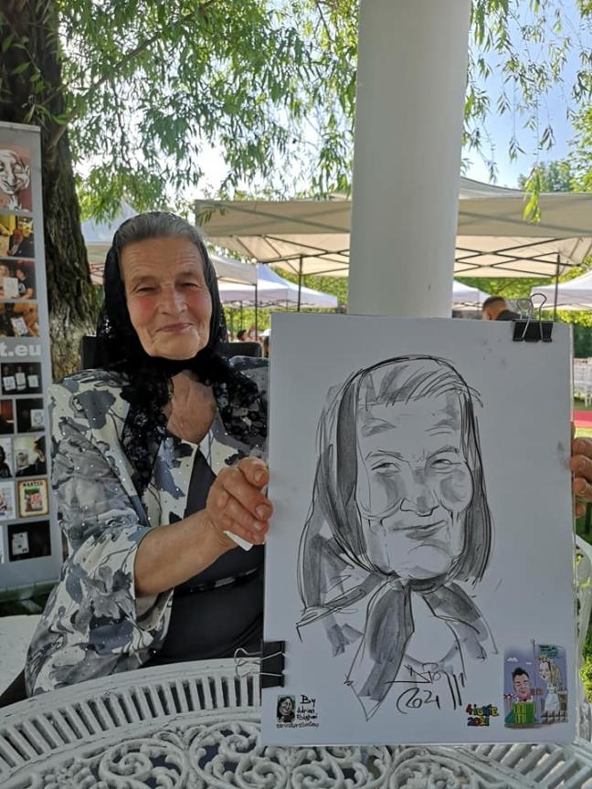 caricatura - portret bunica