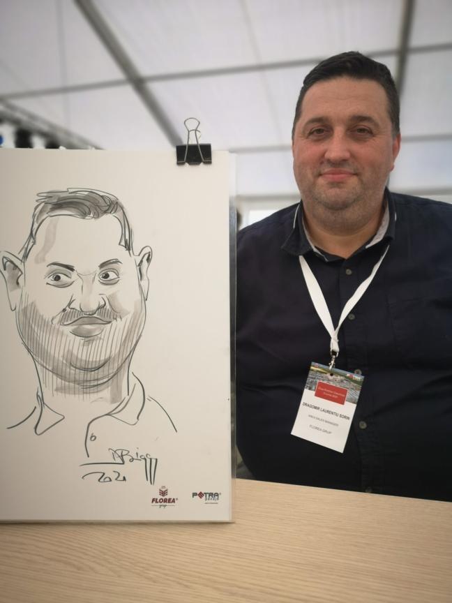 caricatura - portret in creion