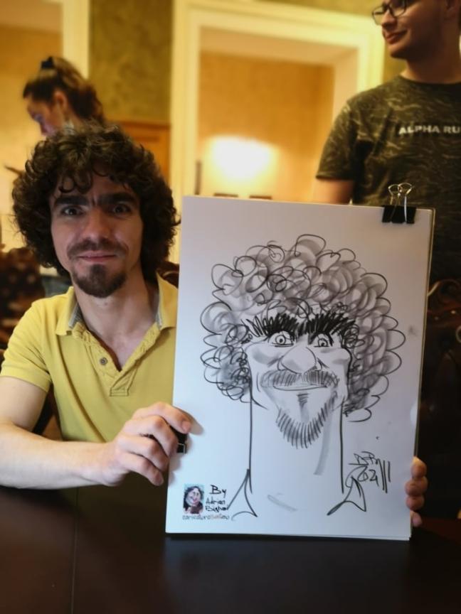 caricaturi in creion