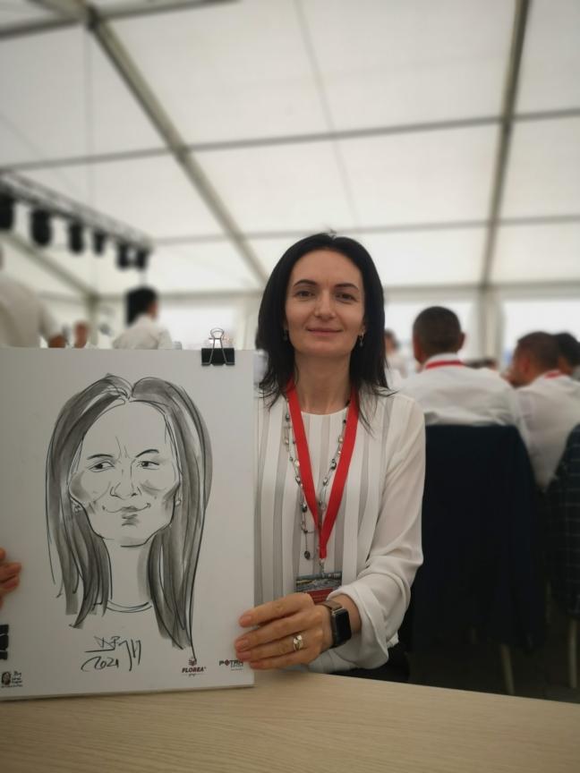 caricaturist evenimente