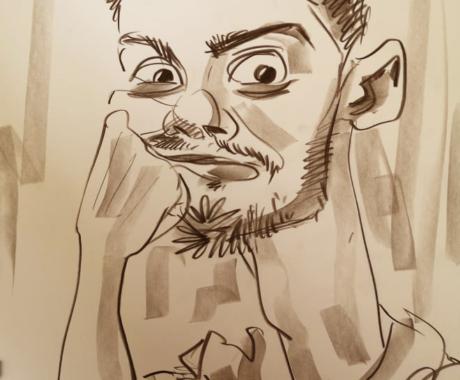 Caricatura in creion