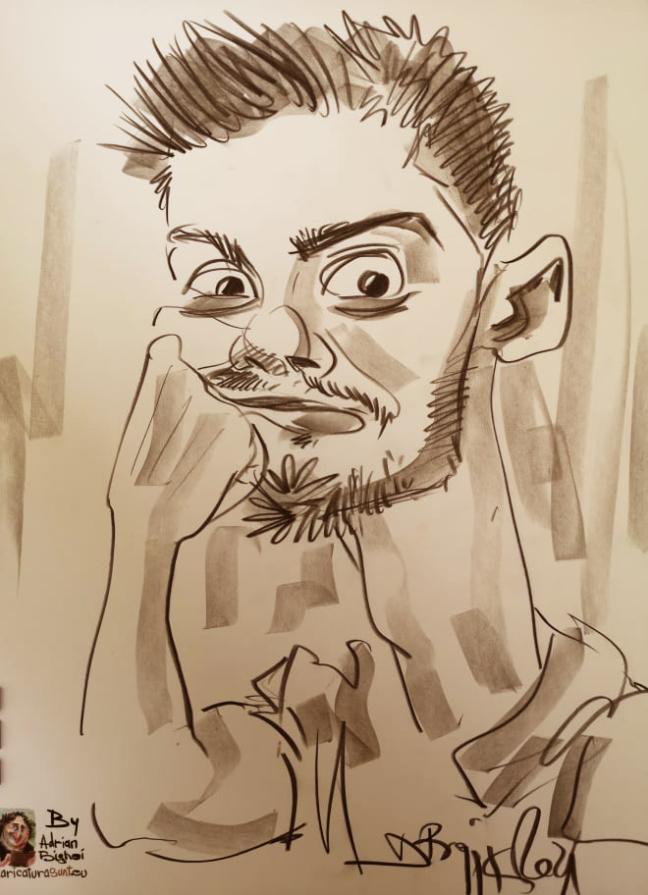 caricatura creion