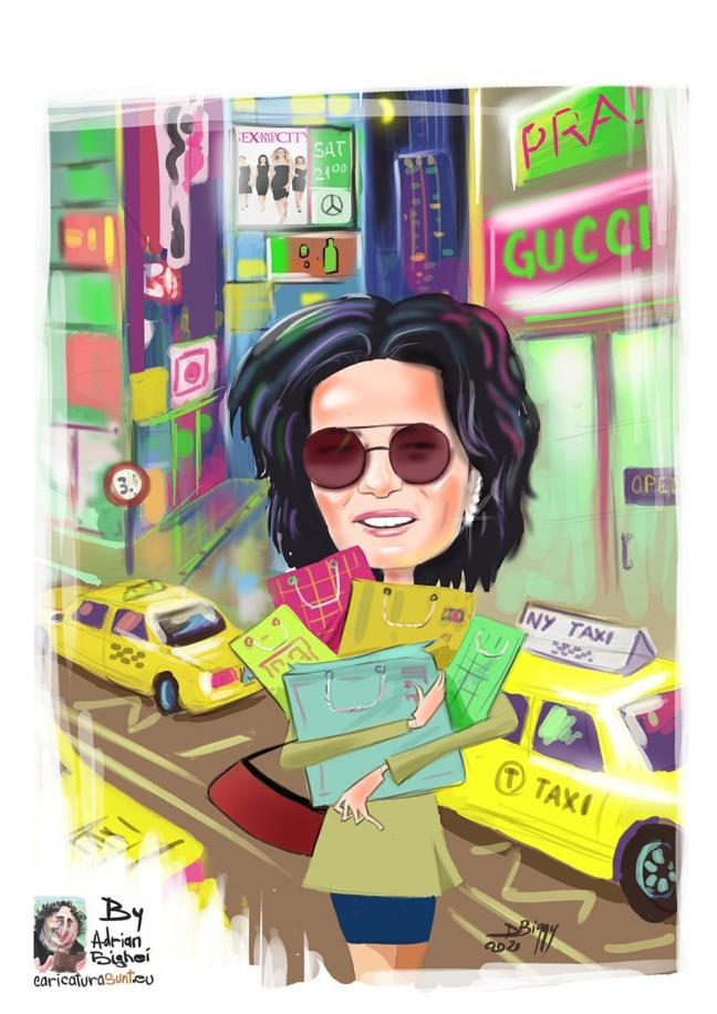 caricatura digitala color