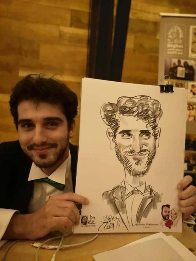 caricaturist Adrian Bighei