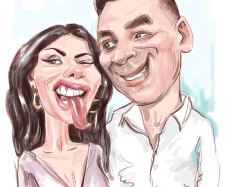 Caricatura color cuplu