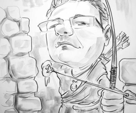 Caricatura in creion dupa poza
