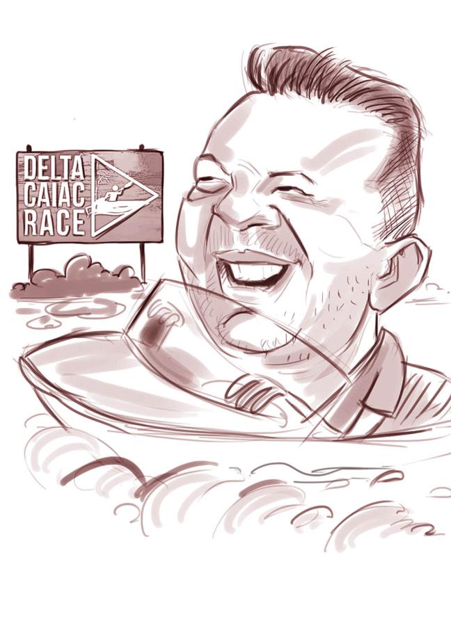 caricatura sepia